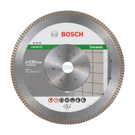 Bosch Best for Ceramic Extraclean Turbo - Seramik ve Fayans İçin Elmas Kesme Diski 230 mm