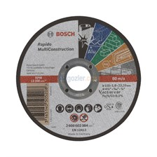 Bosch 115x1.0 mm Rapido MultiConstruction Düz Kesme Diski